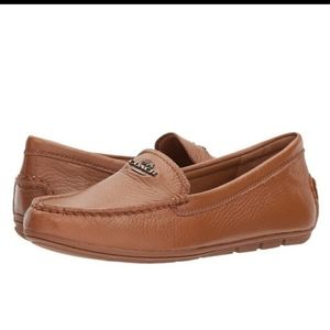 Coach Marylockup pebbled leather loafers 10